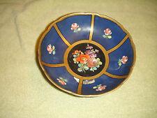 Antique JPT Or JTP Footed Ceramic Floral Bowl-Scalloped Border-Floral Pattern
