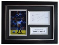 David Unsworth Signed A4 Framed Autograph Photo Display Everton Football COA