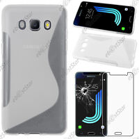 Housse Coque Silicone + Film Verre Trempé Transparent Samsung Galaxy J5 2016