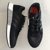 adidas Originals Marathon X5923 Black Suede Boost Running Shoes Mens Size 10 New