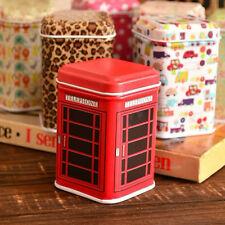 Metal Candy Trinket Tin Jewelry Iron Tea Coin Storage Square Box Case Red NICE