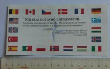 Nato Bombing bomb Serbia Kosovo 1999 Brochure Anti Slobodan Milosevic advertise