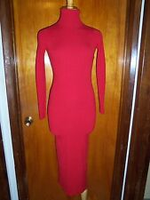 Victoria's Secret Moda International Ribbed Turtleneck Maxi Sweater Dress XXS XS