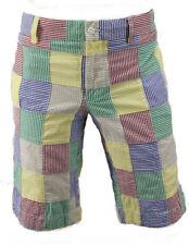 9607860be5f4cc RARE Polo Ralph Lauren Sport Seersucker Madras Plaid Patchwork Patch Shorts  4