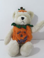 "Dan Dee Ivory Bear in Pumpkin Costume Halloween 14"" Plush"