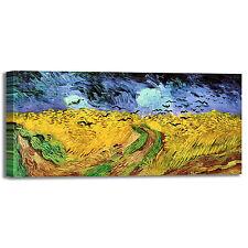 Van Gogh campo di grano con volo di corvi quadro stampa tela dipinto arredo casa