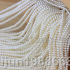 Natural Genuine 3-4mm White Freshwater Pearl Loose Beads 15''