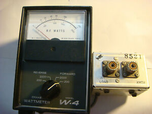 DRAKE W-4 WATT AND SWR METER