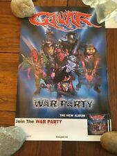 GWAR WAR PARTY PROMO POSTER 11x17