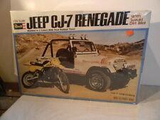 1979 REVELL JEEP CJ-7 RENEGADE WITH SUZUKI BIKE 1/16 SCALE MODEL KIT MINT SEALED