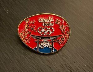 Tokyo 2020 Claro sports Mexican broadcaster media pin