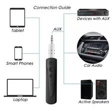 Bluetooth Receiver Adapter 3.5mm Audio AUX for Car Speaker Handsfree Home 4.1