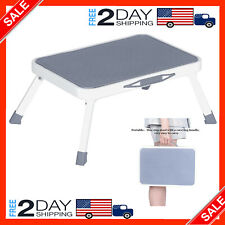 Folding Step Stool Portable Bed Medical with Non Slip Rubber Platform for Adult