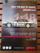 BROCHURE FOR BIANTE 1:18 JAGUAR XJ-S 1985 BATHURST 3RD PLACE WALKINSHAW/PERCY