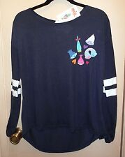 New! Trolls. Dark Navy Blue and White long sleeve top size XL