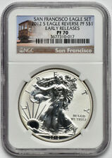 2012 S Reverse Proof 1oz American Silver Eagle NGC PF 70 Early Releases
