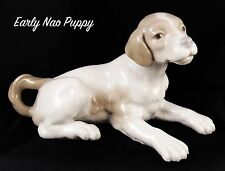 Very Cute Lladro Nao Early Porcelain Figure of a Lying Down Puppy Dog