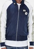G-Star Attacc Pin Badge Bomber Jacket Blue/White Men's UK Size Large *REF38*