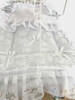 Pram Quilt Set  to fit Silver Cross prams in white Teddy Lace Design