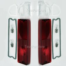67-72 CHEVY GMC PICKUP PU TRUCK FLEETSIDE REAR TAIL LIGHT LAMPS Lens Pair w/gask