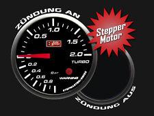 Auto Gauge STEPPER LED Zusatzanzeige Zusatzinstrument Ladedruck Turbo inkl Geber