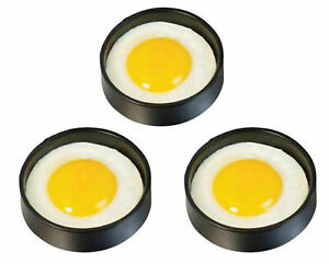 3 X N / S Metal Egg Rings Frying Perfect Circle Round Fried/Poached Frying Mould