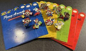 Pinny Arcade 35th Anniversary Super Mario Bros. Mix Pin Lot of 10 New with Board