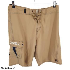O'Neill Swim Beach Surf Board Shorts Bottom Brown Mens Size 34