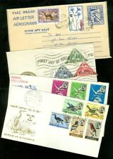 EDW1949SELL : ETHIOPIA Nice group of 3 First Day Covers & 1 uprated Air Letter.
