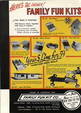 1959 PAPER AD Family Fun Kit Toy Dragster Car Go Cart Build Kit Doll House