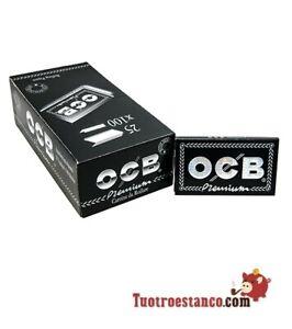 2500 Cartine Corte Doppie Ocb Nero Black 1 Box Da 25 Libretti Di 100 Cartine