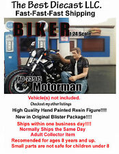 Biker Motorman American Diorama 1:24 Figure Will fit with a motorcycle