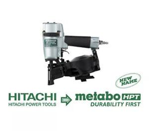 "Metabo HPT (Hitachi) NV45AB2 1-3/4"" Coil Roofing Nailer RF Nail Gun (New)"