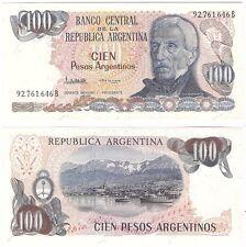 Argentina 100 pesos argentinos 1984-1985 P-315a.2 UNC Uncirculated banknote
