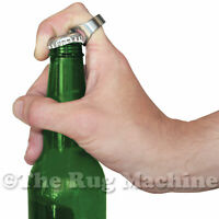BEER BOTTLE OPENER RING - Stainless Steel Handy Ring Great Gift! OSFA *NEW*