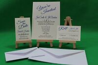 10 cards Personalised Wedding invites and rsvp cards including envelopes