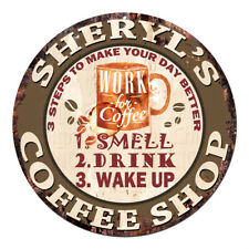 Cwcs-0307 Sheryl'S Coffee Shop Tin Sign Birthday Mother's day Gift Ideas