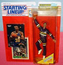 1993 Karl Malone Utah Jazz #32 warm up sweats Hof Starting Lineup + Stadium Club