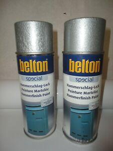 LOT DE 2 BOMBE DE PEINTURE MARTELEE COULEUR ANTHRACITE MARQUE BELTON ( 1.1267)