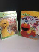 New Sealed Sesame Street DVD lot of 2 Big Bird's Wish Elmo Birthday Fun Abby