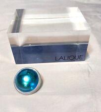 Lalique Cabochon Broche Bleu clair Pin / brooch light blue Spilla Azzurra NEW