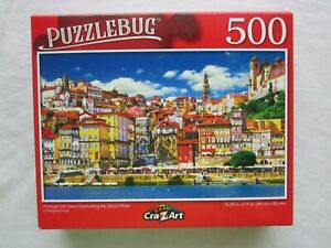 Puzzlebug Portugal Old Town Overlooking Douro River-500 Piece Puzzle-Sealed
