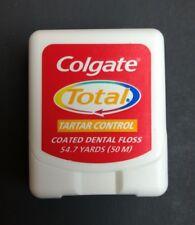 Rare Vintage Colgate Total Tartar Control Coated Dental Floss 54.7 yards 50 M