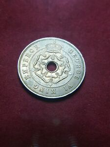 Southern Rhodesia = Simbabwe Zimbabwe ONE Penny 1943 in f. Prägefrisch / a. UNC