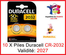 10 Batteries CR-2032 Duracell Knopf Lithium 3V Dlc 2027