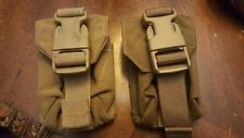 SET OF 2 - USMC Eagle Industries HAND GRENADE POUCHES Frag Coyote MOLLE II USGI