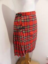 Vintage 90s red tartan kilt wrap skirt grunge goth classic UK 8 10 VGC