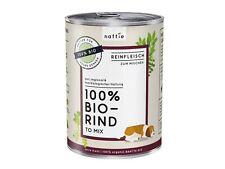 naftie Bio-Hundefutter 100% Bio Rind, Nassfutter Reinfleisch für Hunde, 400g