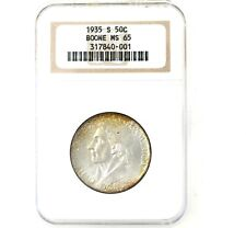 1935-S Daniel Boone US Silver Commemorative Half Dollar NGC MS65 NICE COIN!!