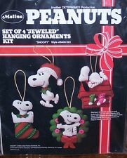 "Peanuts ""SNOOPY"" Felt Malina Christmas Ornaments Kit RARE (Set of 4) Sterilized"